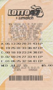 07.24.15 Lotto 47 07.22.15 Draw $13,093,579 Anonymous Ostego County