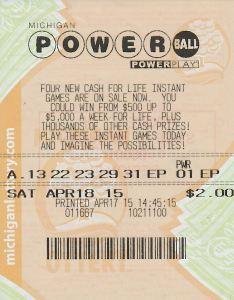 07.31.15 Powerball 04.18.15 Draw Carmen Dolan Shiawassee County