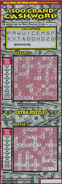 08.28.15 $500 Grand Cashword IG # 729 $500,000 Anonymous Wayne County