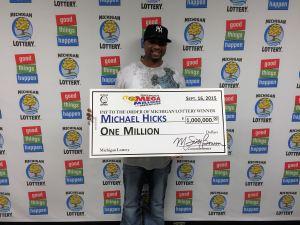 Michael Hicks won $1 million playing Mega Millions on Sept. 11, 2014.