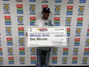 Michael Hicks won $1 million playing Mega Millions on Sept. 11, 2014.