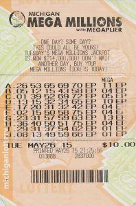 09.21.15 Mega Millions 05.26.2015 Draw $1,000,000 Linda Tuttle Kentwood County