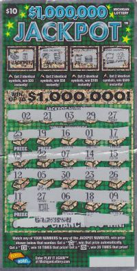09.22.15 IG #723 $1,000,000 Jackpot  $1,000,000 Anonymous Mason County