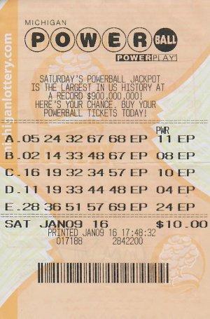 01.11.16 Powerball $1 million Draw 01.09.16 Imari Shelton Ottawa County