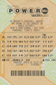 01.19.16 Powerball 01.13.16 Draw $1 Million Michael Paine Iron County