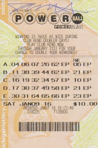 01.21.16 Powerball 01.09.16 Draw $1 Million Jeff Sheathelm Livingston County