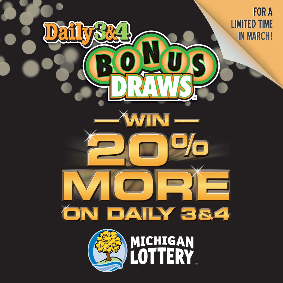 Bonus Draws Give Daily 3 and Daily 4 Players Chances to Win