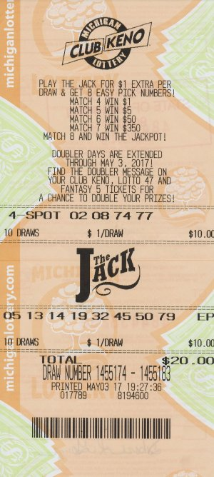 Debbie Gough's winning Club Keno The Jack ticket.