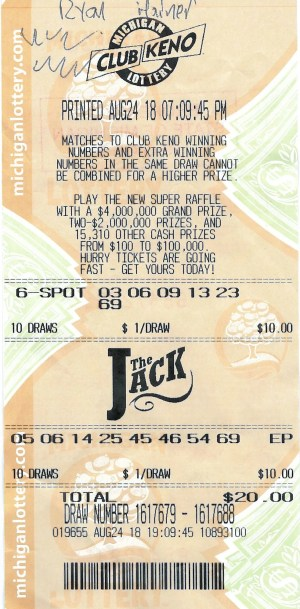 Hainer's winning ticket.