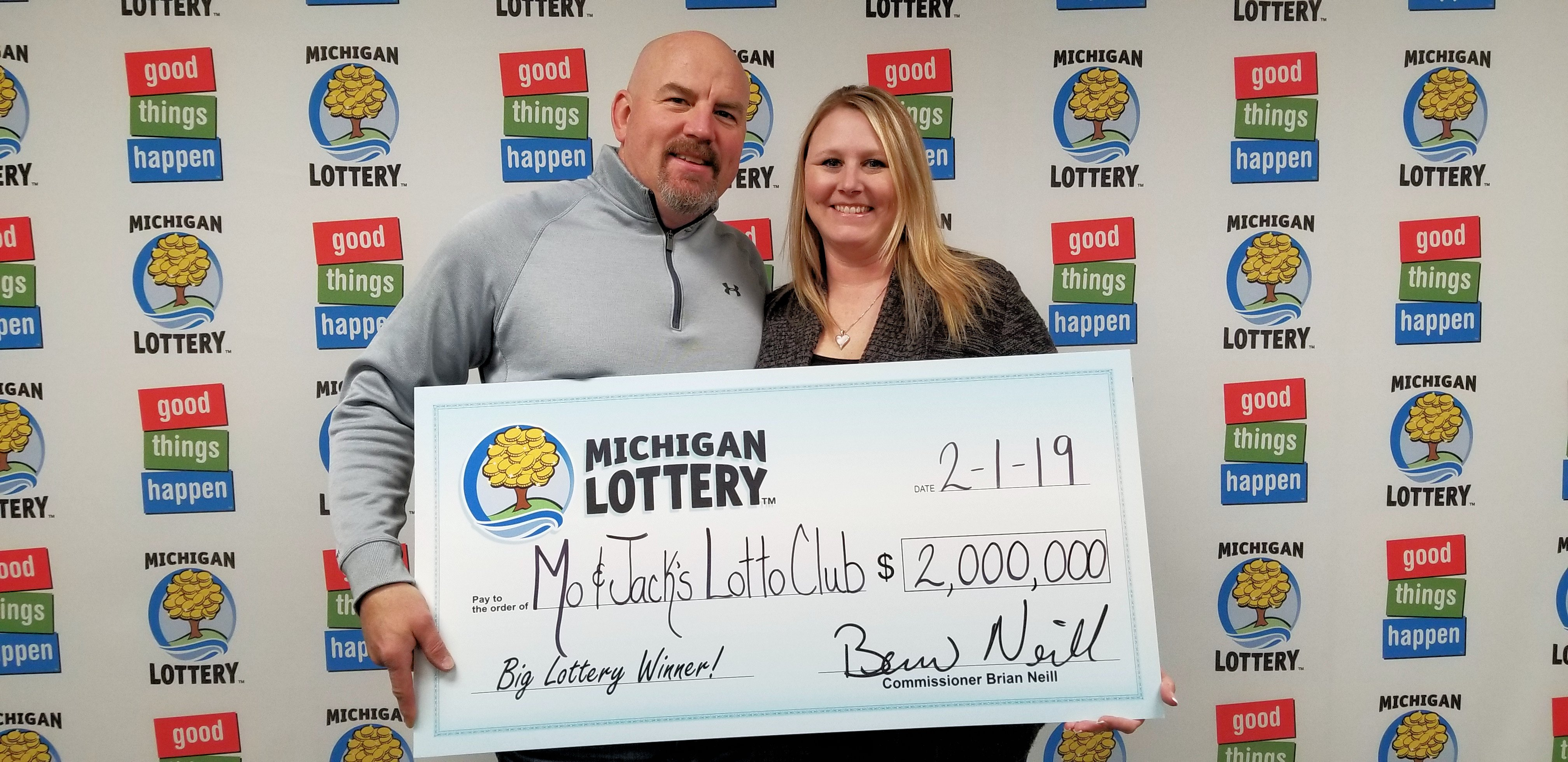 Genesee County Lottery Club Wins 2 Million Powerball Prize Ticket