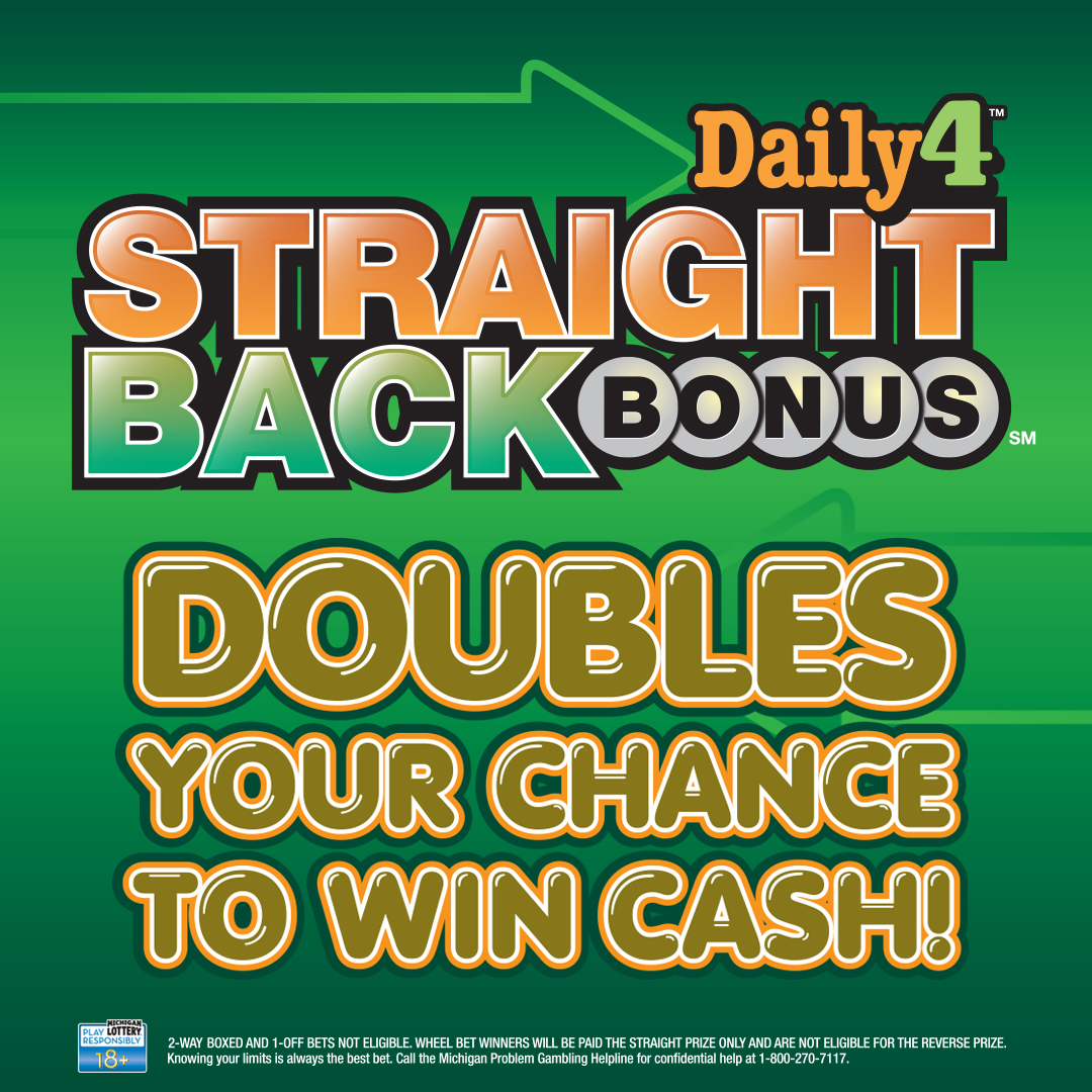 Daily 4 Straight Back Bonus Gives Michigan Lottery Players Another
