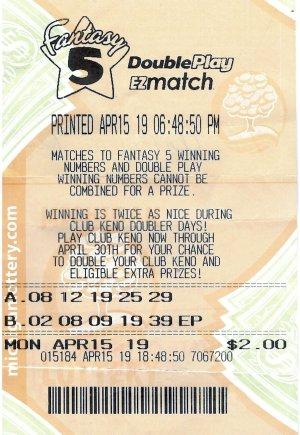 Winning ticket.