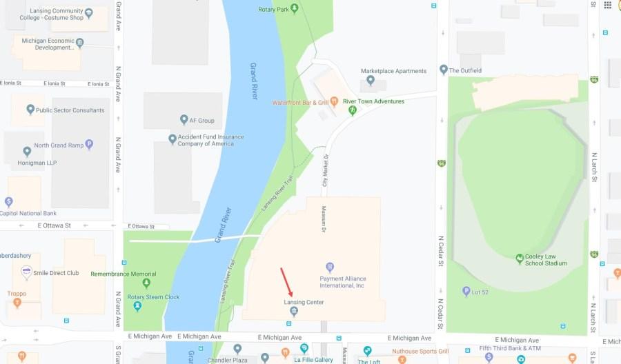 Lansing Center Map