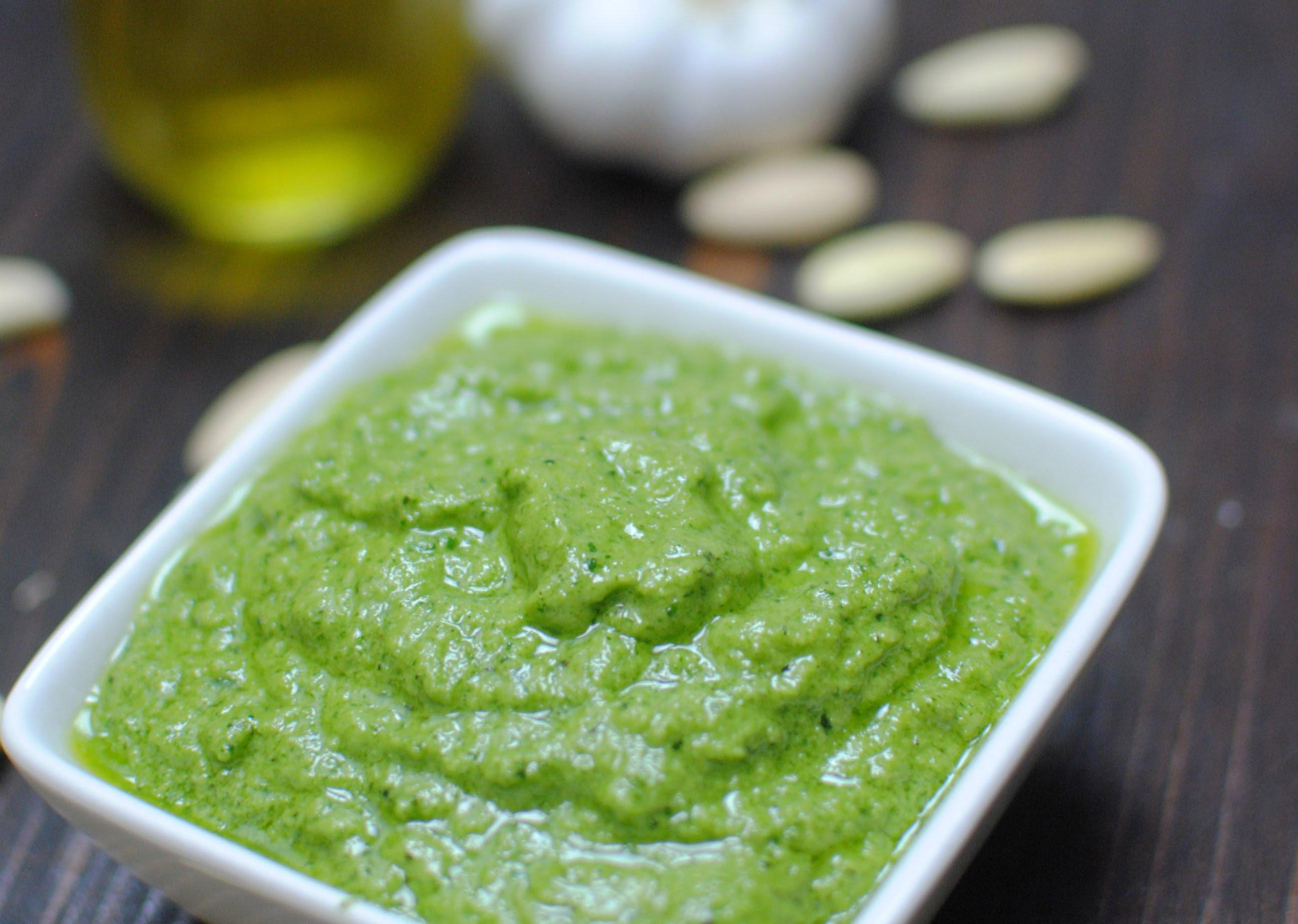 Salsa al pesto Una salsa sin coccin  Mil Recetas