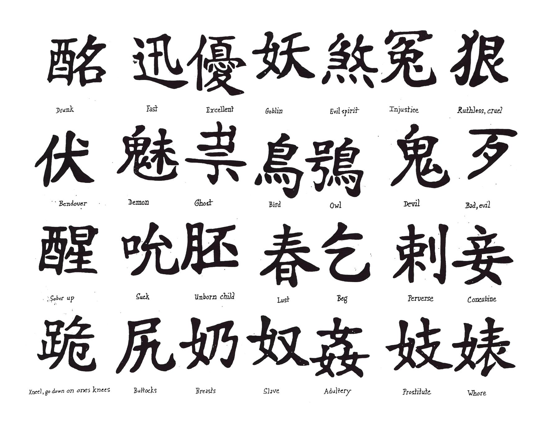 Smbolos Y Dibujos Chinos Diversos Para Diseos Y Tatuajes