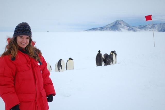 Allison in Antarctica