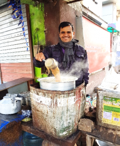 The happy chai guy near our hotel. Readers, I don't have a clue about what he put in that big steel pot, but it was delicious.