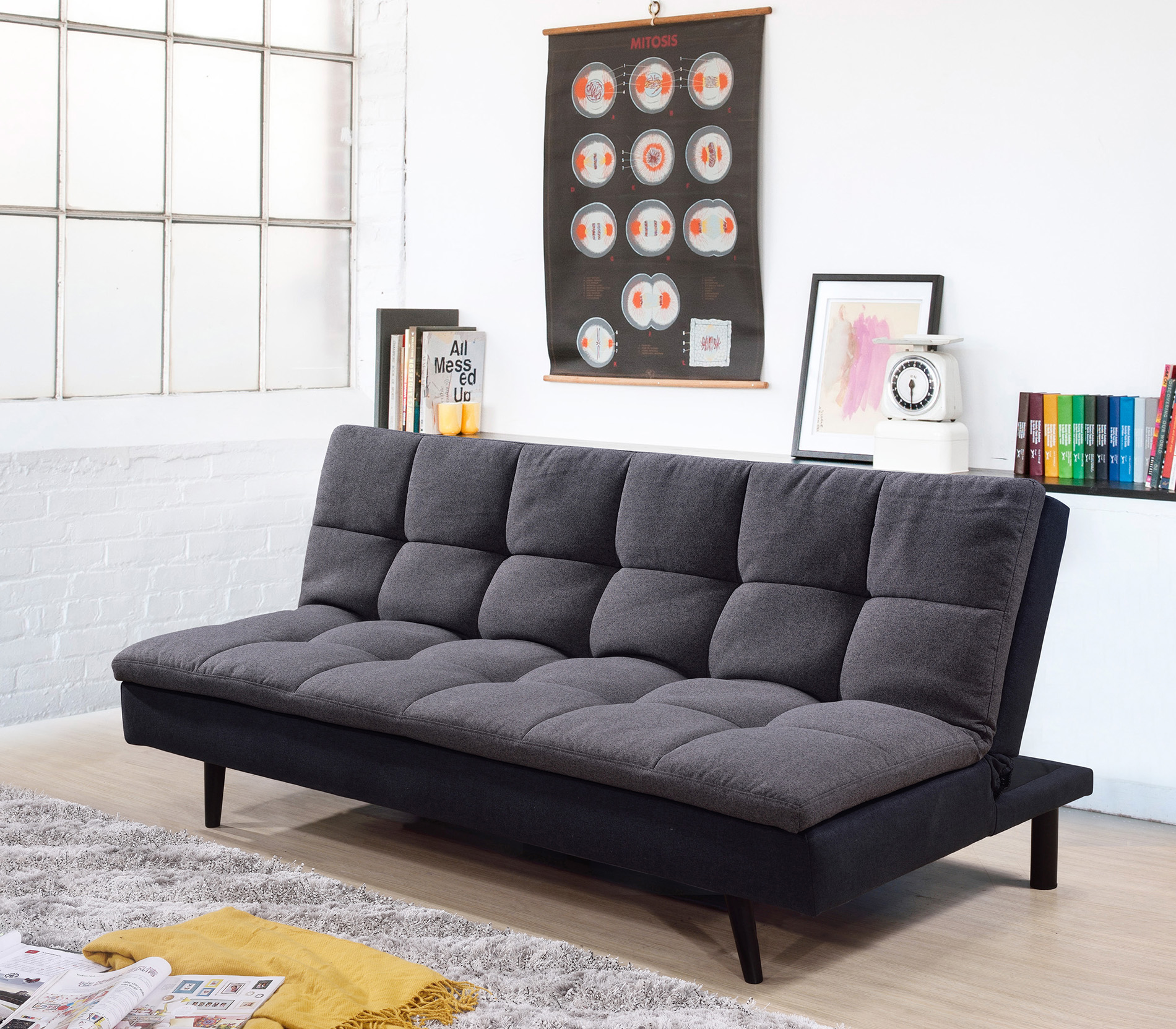7568 dark gray pillow top sofa bed 7568 dgr milton greens stars lowest price possible with best possible value
