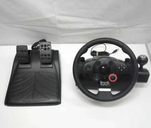 Logitech E X5c Driving Force Gt Racing Wheel As Is