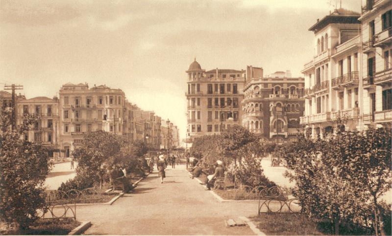 Η οδός Αγίας Σοφίας στη Θεσσαλονίκη.