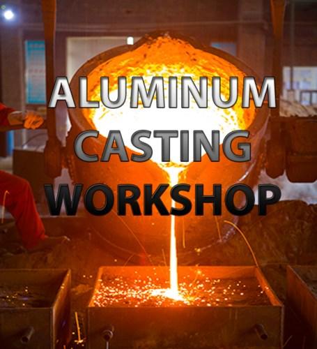 Aluminum casting demonstration and scratch tile workshop