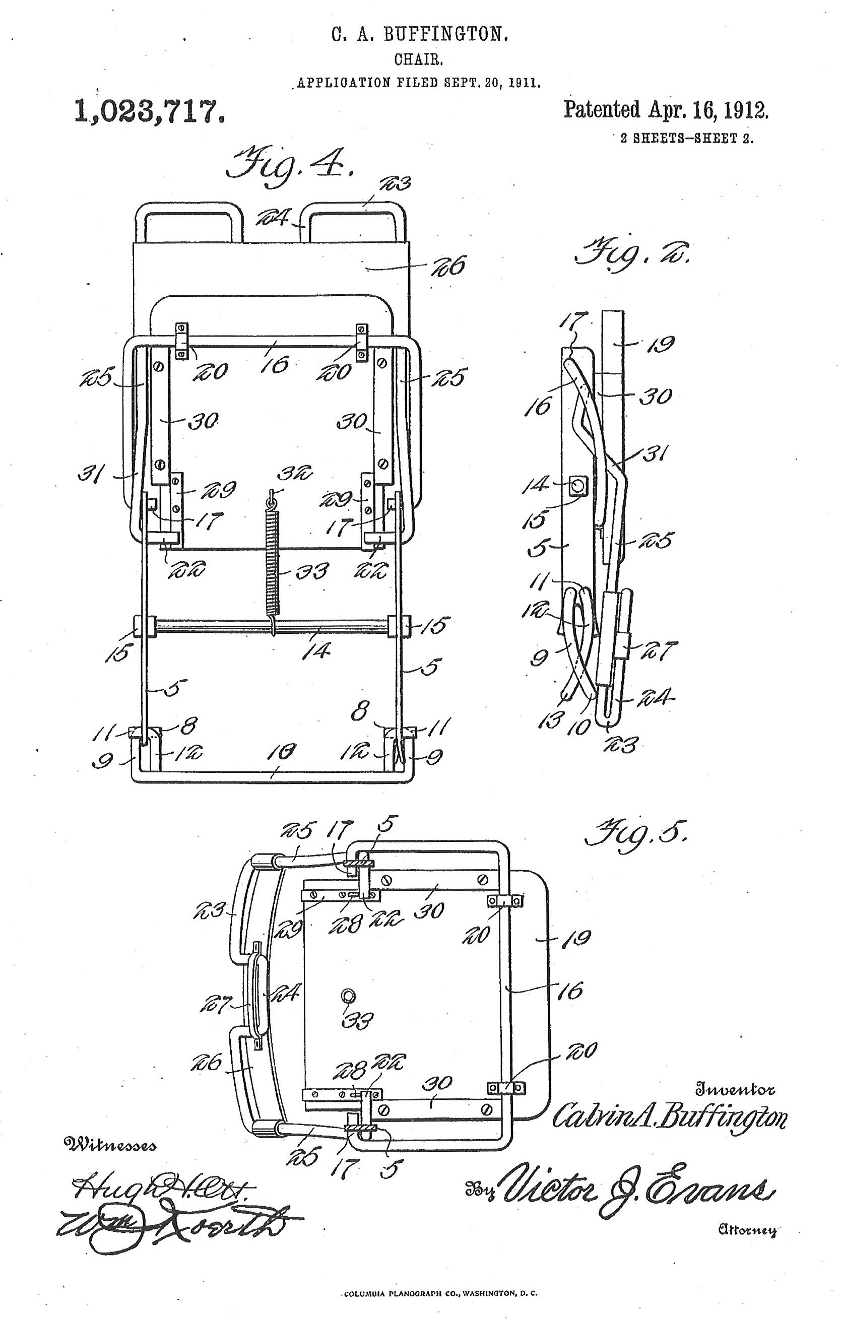 chair design patent white lounge canada from museum storagec a buffington and co automobile