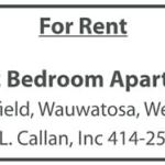 For Rent: 1 and 2 Bedroom Apartments