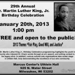 29th Annual Dr. Martin Luther King, Jr. Birthday Celebration at Marcus Center Jan 20th