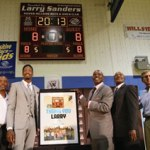Bucks formally announce Larry Sanders contract extension at Piepler-Hillside Boys & Girls Club