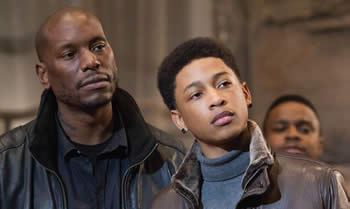 Pictured in a scene from Black Nativity is actor Tyrese Gibson and Jacob Latimore.