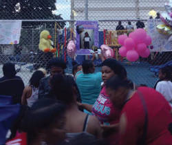 Photo-from-vigil-in-memory-of-Sierra-Guyton-Clark-Street-School-playground-people-attending