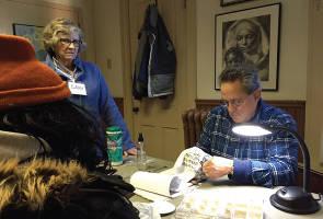 Volunteers Cary Fellman and Chuck Cmeyla