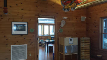 """Entrance of """"Citizen Science Lab"""" at the Urban Ecology Center's Riverside Park location."""