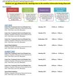 Family Informational Schedule for Individuals Interested in Being Foster Parents