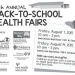 15th Annual Back-To-School Health Fairs