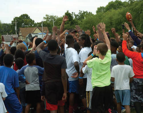 Over 500 kids participate every year local football coaches assist with the camp.