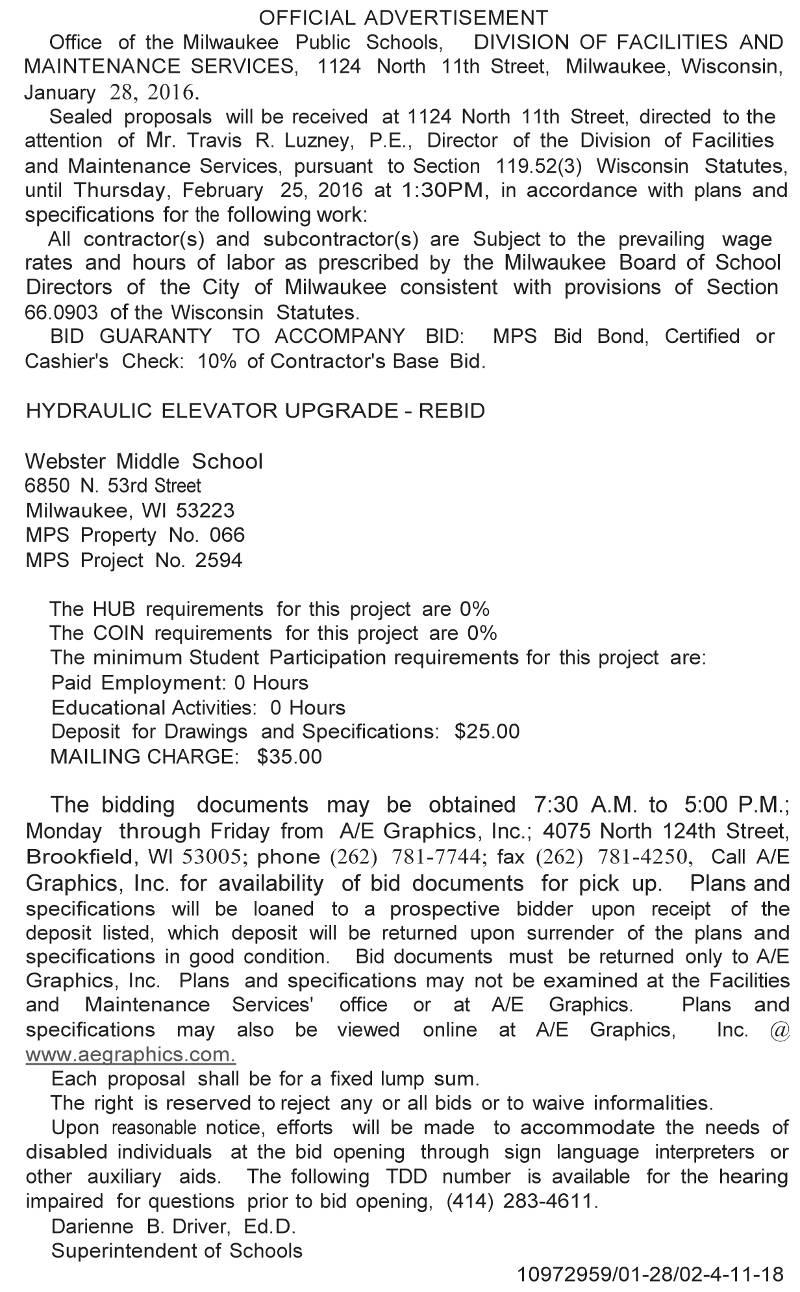 mps-requesting-bids-hydraulic-elevator-upgrade-rebid-webster-middle-school