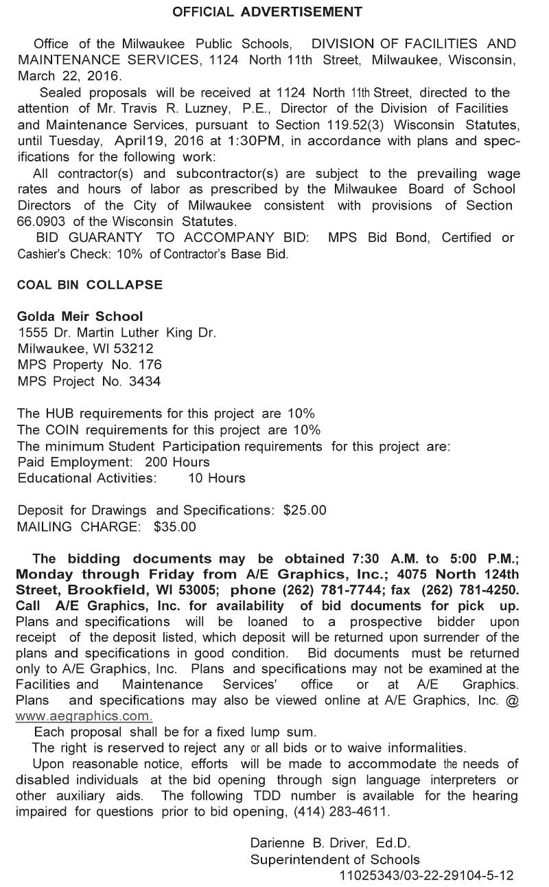 mps-requesting-bids-coal-bin-collapse-golda-meir-school