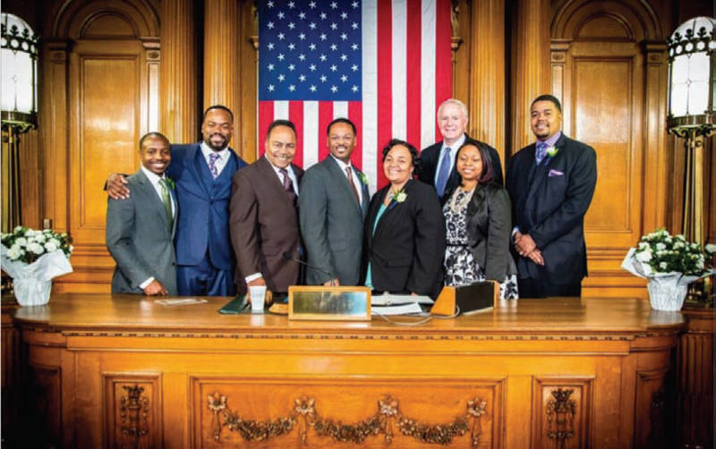 City-Milwaukee-Black-Elected-Officials-Tom-Barrett-Cavalier-Johnson-Russell-Stamper-II-Spencer-Coggs-Ashanti-Hamilton-Milele-Coggs-Chantia-Lewis-Khalif-Rainey