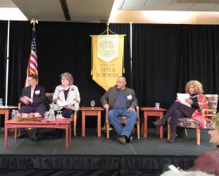 Panel members, Emilio De Torres, Margaret Rauschenberger, Ron Johnson and Valeria Taylor. Photo by Karen Stokes