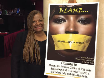 """Pastor Martha Austin is the writer, director and producer of the play, """"Blame."""" (Photo by Dylan Deprey)"""