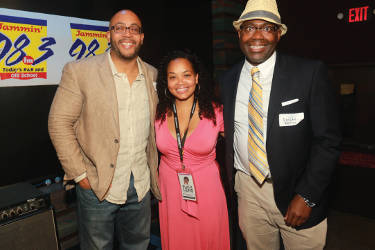 Geraud Blanks, Robin Reese and Donte McFadden during the 2016 Black Lens Kickoff Reception held at 88Nine Radio Milwaukee. (Photo by Robert Bell)