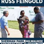 Community BBQ With Russ Feingold at Sherman Park on Sept 17