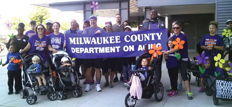 Milwaukee County Dept. of Aging supported the 2016 Walk to End Alzheimer's. (Photo by Mrinal Gokhale)