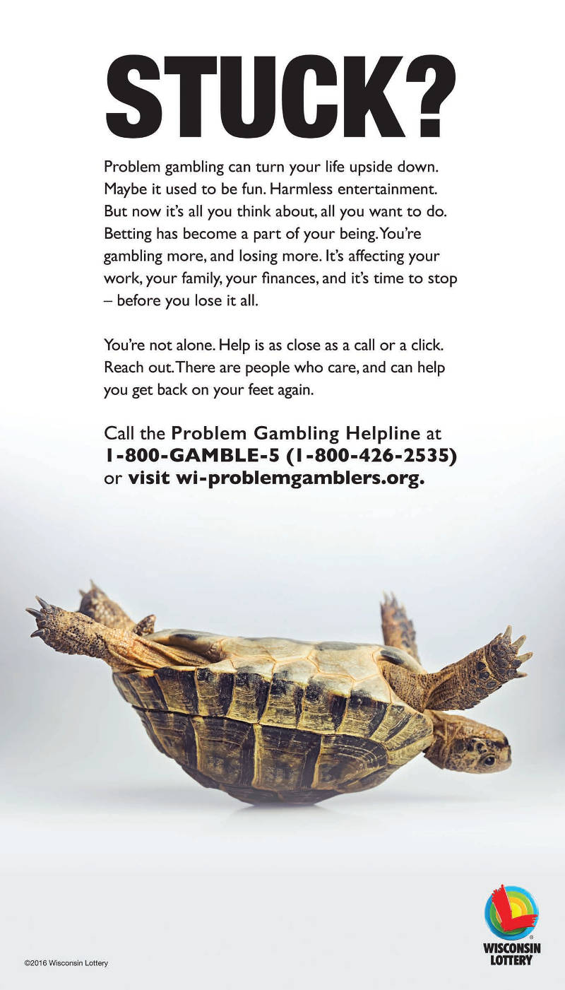 stuck-problem-gambling-wisconsin-lottery-turtle-on-back-upside-down