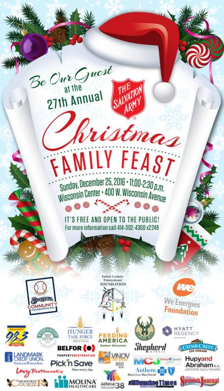be our guest at the 27th annual christmas family feast on