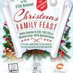 Be Our Guest At The 27th Annual Christmas Family Feast On Dec 25