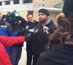 Jamal Oshindu during the press conference at MPD District 3. (Photo by Karen Stokes)