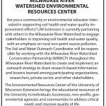 Position Open: Soil and Water Outreach Coordinator at UW-Extension