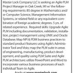 Position Open: Agile PLM Project Manager at Master Lock